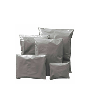 Grey Mailing Bags Strong Poly Postal Postage Mail Self Seal Cheap - 25 Pack
