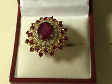 ABSOLUTLEY STUNNING RUBY AND DIAMOND COCKTAIL RING