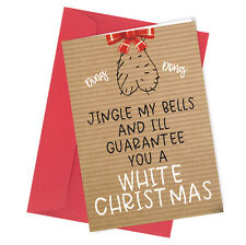 #332 Tarjeta de felicitación de la tarjeta de Navidad Grosero Gracioso Humor Broma sexo Jingle mis bolas