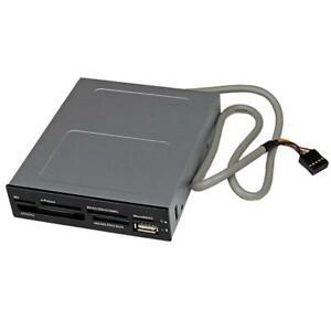 StarTech 3.5in Front Bay USB 2.0 Multi Media Memory Card Reader Black 35FCREADBK