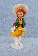 Annie Oakley Cowgirl Doll Vintage Sleep Eye Blue Bonnet Sue Butter Premium Stand