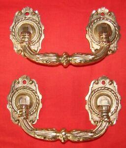 Antique paire poignée de piano bronze XIX ème signée Muller