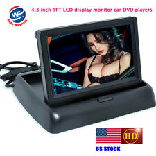 """HD Car Video Foldable 4.3 """" TFT LCD Color Rearview Mirror Monitor"""
