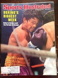 September 27 1977 Roberto Duran Champ Boxing Sports Illustrated Magazine Vintage
