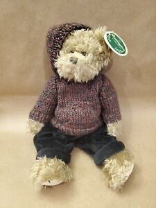 "LM Bearington Stewart 14"" Jointed Pellet Filled Vintage Artist Teddy Bear Plush"
