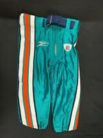 MIAMI DOLPHINS GAME USED TEAL REEBOK FOOTBALL PANTS SIZE 28 SI WITH BELT