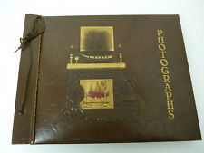 1927 Antique Vintage Photographs Scrapbook Photo Album Brown 13 x 10