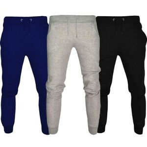 Mens Fleece Jogging Bottoms Tracksuit Pants Sports Gym Running Casual Joggers