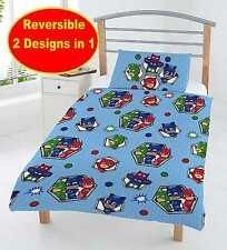 NEW PJ MASKS JUNIOR TODDLER COT BED SIZE DUVET QUILT COVER SET BOYS KIDS BEDROOM