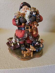 VTG Sherwood's Magical Christmas Collection Santa's Bear Hug 2000 #771226 W/ Box