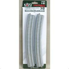 Kato 2-251 Rail Courbe / Curve Track Concrete Tie Inclined R790 22.5° 4pcs - HO