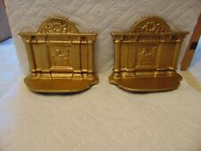 Vintage Cast Iron Book Ends- Lady Piano Player-In Concert