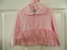 NEW MUD PIE BABY TODDLER GIRL VELOUR COAT JACKET PRETTY IN PINK 12-18 MONTH