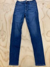 AMERICAN EAGLE OUTFITTERS WOMEN SIZE 8 LONG SUPER STRETCH HI RISE JEGGINGS EUC