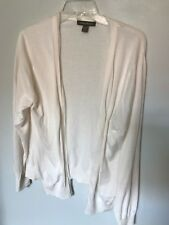 """Tommy Bahama Ivory """"Rough Edge"""" Buttonless Cardigan - Size XL"""