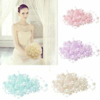5M Faux Pearl Bead String Garland Wedding Party Bouquet Veil Decoration