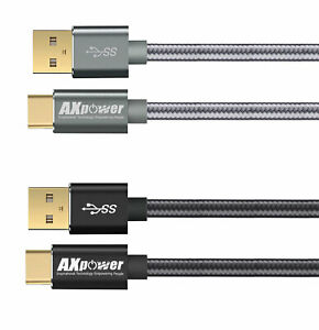 AXpower ITEP® 2-PACK USB Type C Quick Fast Charging Speed Sync Charger Cable