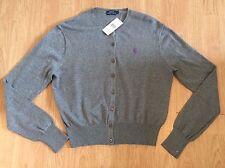 NWT Ralph Lauren Polo Tanija Ladies Grey Cardigan Large RRP £130