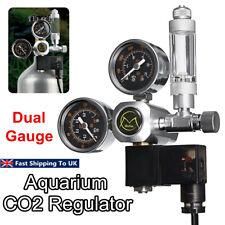 Dual Gauge CO2 Pressure Regulator Bubble Counter Aquarium System Solenoid Valve