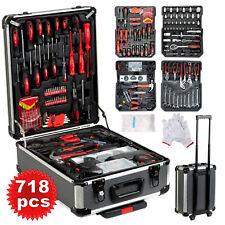 718 PCS Tool Kit Set Portable Mechanic Box Toolbox Trolley Case DIY Hand Tools