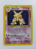 Alakazam 1/102 Rare Holo Original WOTC Base Set Pokemon Card
