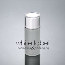 40ML FROSTED GLASS LOTION COSMETIC PUMP BOTTLE WHOLESALE WHITE LID-NEW50PCS/LOT