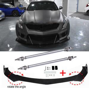 For Cadillac CTS ATS ATSL Front Bumper Lip Splitter Spoiler Body Kit+ Strut Rods