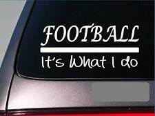 Football linebacker sticker decal *E255* highschool quarterback uniform pads