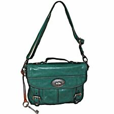 Fossil Green Distressed Leather Maddox Messenger Crossbody Satchel Bag ZB5032