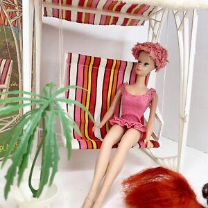 Miss Barbie Doll # 1060 w/ Box Swing Wigs Plant Near Complete Vintage Mattel
