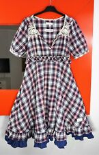 ODD MOLLY #146 Short Sleeve Plaid Flannel 'Glazed' Dress size 1/S