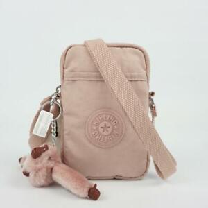 KIPLING TALLY Phone Travel Mini Crossbody Bag Brilliant Pink