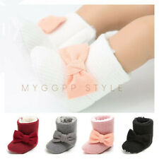 Newborn Baby Girl Bowknot Booties Toddler High Top Warm Boots Child Snow Boots