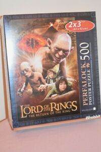 Lord of the Rings HUGE Poster Puzzle ROTK 60cm x 90cm NEW by WREBBIT