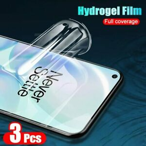 3pcs Hydrogel Film Screen Protector For Oneplus 8T 7 6 Pro 8 Pro protective film
