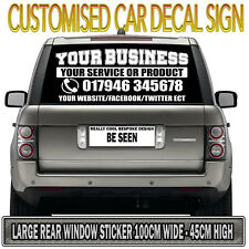 LARGE CAR BUSINESS SIGN VINYL DECAL STICKER Personal Company Name Lettering
