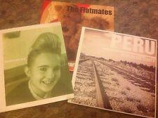 "THE FLATMATES / PERU - lot of 3x7"" Archdeacon of Pop Records MINT C86 indiepop"