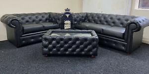 Chesterfield Sofa in Bolero Leather