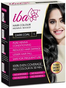 Iba Halal Care Hair Color, Dark Coal, 70g + Free Sachet (free shipping world)