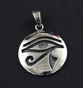 Anhänger Auge des Horus Udjat Ägypten Antik Ø 28mm Silber 925 5g W2 26284