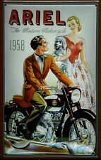 Ariel Motorcycle 1958 Blechschild Schild 3D geprägt gewölbt Tin Sign 20 x 30 cm