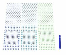 Aurora 600 Glow in the Dark Stars with 600 Micro Stars, 3 Colors (200 Blue, 2...