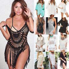 Women's Lace Crochet Bikini Cover Up Summer Beach Swimwear Sarong Holiday Dress