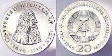 20 MARK 1966 G.W. LEIBNITZ DEUTSCHE DEMOKRATISCHE REPUBLIK DDR SILVER #4172