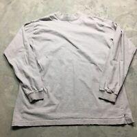 90s VTG MOCK NECK Blank Plain XL Tall T Shirt Marshall Fields Gear Normcore