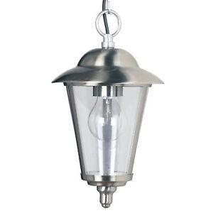 Endon YG-865-SS Klien 1 Light Outdoor Lantern Ceiling Pendant IP44 Stainless Ste