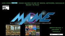 8500+ MAME games, 21GB Roms Classic, Coin-op Retro, 32GB drive, no hyperspin