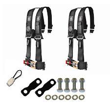 "Pro Armor 4 Point Harness 3"" Seat Belt Pair Mount Kit Bypass Black YXZ1000 2017+"
