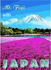 Mt. Mount Fuji Japan Japanese Asia Asian Travel Advertisement Art Poster