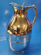"""Vintage Us Army Medical Chrome The Only Thermos Coffee Pot Model# 2547 9"""" x 5"""""""